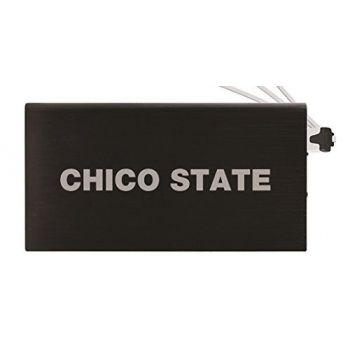 8000 mAh Portable Cell Phone Charger-California State University, Chico-Black