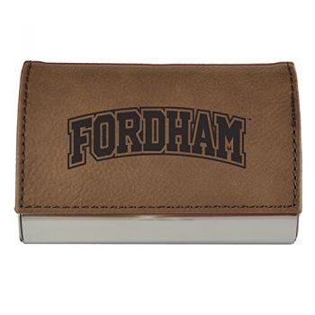 Velour Business Cardholder-Fordham University-Brown