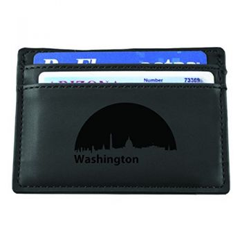 Washington, D.C., Capital of the USA-European Money Clip Wallet-