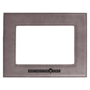 Northwestern State University-Velour Picture Frame 4x6-Grey