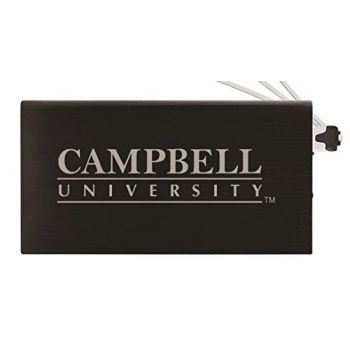 8000 mAh Portable Cell Phone Charger-Campbell University -Black