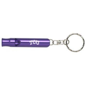 Texas Christian University - Whistle Key Tag - Purple