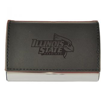 Velour Business Cardholder-Illinois State University-Black