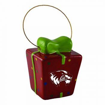 Utah Valley University-3D Ceramic Gift Box Ornament
