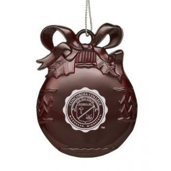 Concordia College - Pewter Christmas Tree Ornament - Burgundy