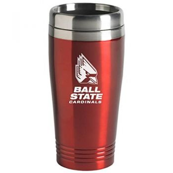Ball State University - 16-ounce Travel Mug Tumbler - Red