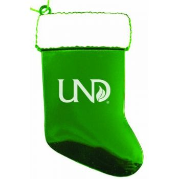 University of North Dakota - Christmas Holiday Stocking Ornament - Green