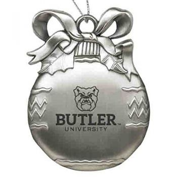 Butler University - Pewter Christmas Tree Ornament - Silver