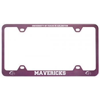 University of Texas at Arlington -Metal License Plate Frame-Pink