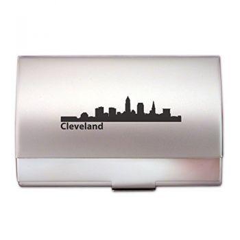 Business Card Holder Case - Cleveland City Skyline