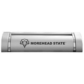 Morehead State University-Desk Business Card Holder -Silver