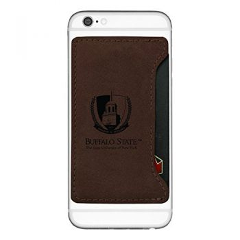Buffalo State University - The State Universtiy of New York-Cell Phone Card Holder-Brown