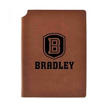 Bradley University Velour Journal with Pen Holder|Carbon Etched|Officially Licensed Collegiate Journal|