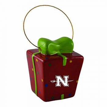 Nicholls State University-3D Ceramic Gift Box Ornament