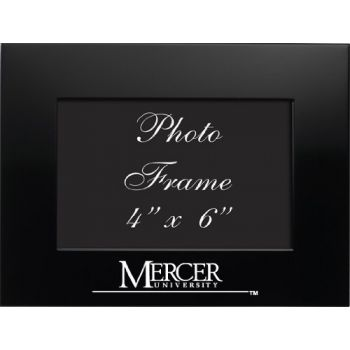 Mercer University - 4x6 Brushed Metal Picture Frame - Black
