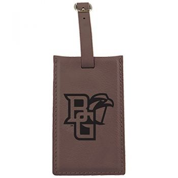 Bowling Green State University -Leatherette Luggage Tag-Brown