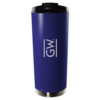 George Washington University-16oz. Stainless Steel Vacuum Insulated Travel Mug Tumbler-Blue