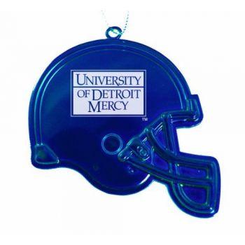 University of Detroit Mercy - Christmas Holiday Football Helmet Ornament - Blue