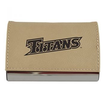 Velour Business Cardholder-California State University Fullerton-Tan