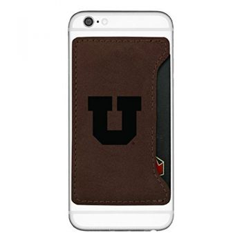 University of Utah-Cell Phone Card Holder-Brown