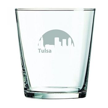 13 oz Cocktail Glass - Tulsa City Skyline