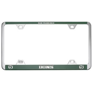 University of San Francisco -Metal License Plate Frame-Green