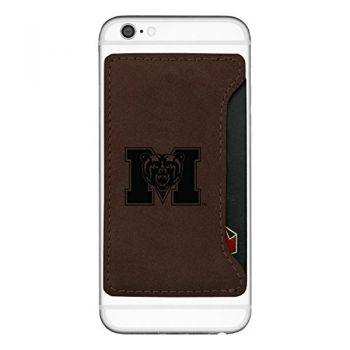 Mercer University -Cell Phone Card Holder-Brown