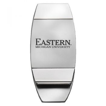 Eastern Michigan University - Two-Toned Money Clip - Silver