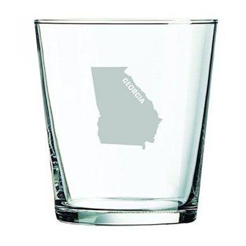 13 oz Cocktail Glass - Georgia State Outline - Georgia State Outline