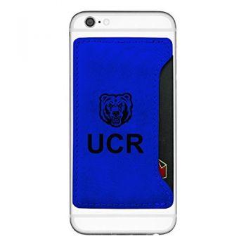 University of California, Riverside-Cell Phone Card Holder-Blue
