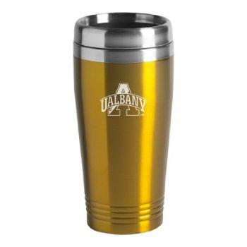 University at Albany, SUNY - 16-ounce Travel Mug Tumbler - Gold