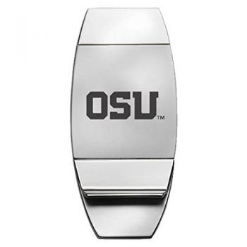 Oregon State University - Two-Toned Money Clip - Silver