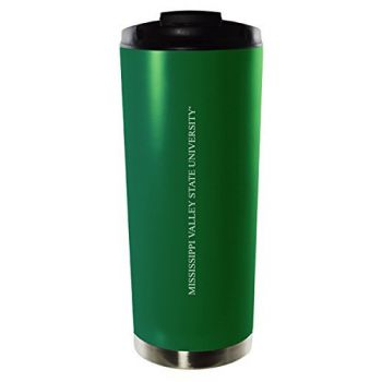 Mississippi Valley State University-16oz. Stainless Steel Vacuum Insulated Travel Mug Tumbler-Green