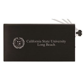8000 mAh Portable Cell Phone Charger-Long Beach State University -Black