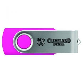 Cleveland State University -8GB 2.0 USB Flash Drive-Pink