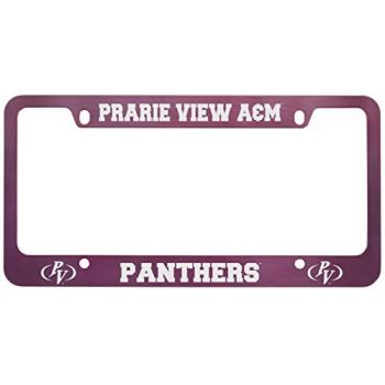 Prairie View A&M University -Metal License Plate Frame-Pink