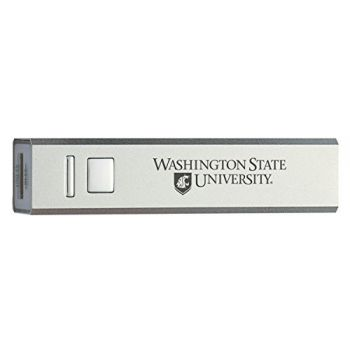 Washington State University - Portable Cell Phone 2600 mAh Power Bank Charger - Silver