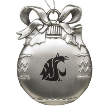 Washington State University - Pewter Christmas Tree Ornament - Silver