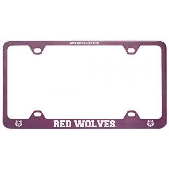 Arkansas State University -Metal License Plate Frame-Pink