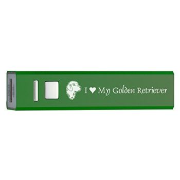 Quick Charge Portable Power Bank 2600 mAh  - I Love My Golden Retriever