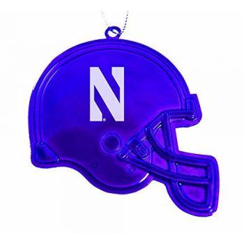 Northwestern University - Christmas Holiday Football Helmet Ornament - Purple