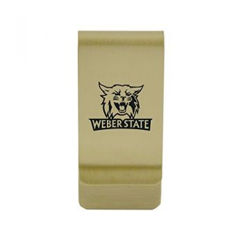 Washington University in St. Louis|Money Clip with Contemporary Metals Finish|Solid Brass|High Tension Clip to Securely Hold Cash, Cards and ID's|Silver