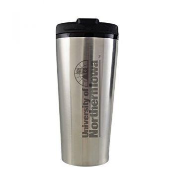 University of Northern Iowa-16 oz. Travel Mug Tumbler-Silver