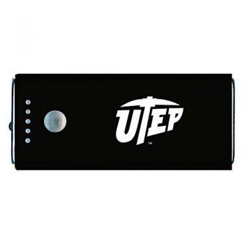 The University of Texas at El Paso -Portable Cell Phone 5200 mAh Power Bank Charger -Black