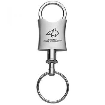 Montana State University-Trillium Valet Key Tag-Silver