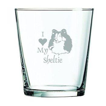 13 oz Cocktail Glass  - I Love My Sheltie