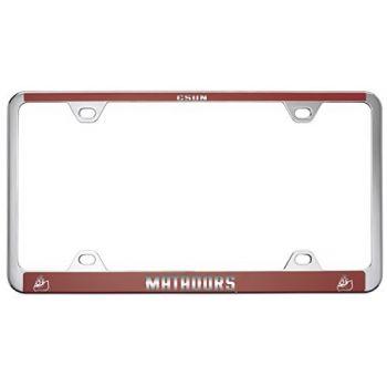 California State University, Northridge -Metal License Plate Frame-Red
