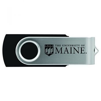 University of Maine-8GB 2.0 USB Flash Drive-Black