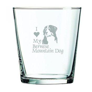 13 oz Cocktail Glass  - I Love My Bernese Mountain Dog