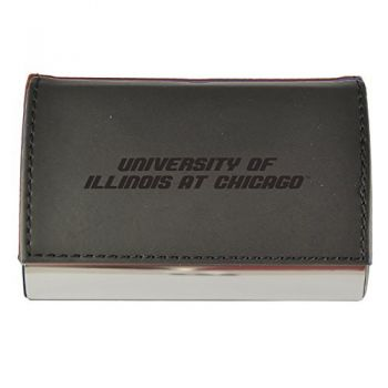 Velour Business Cardholder-University of Illinois at Chicago-Black